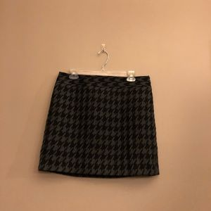 Houndstooth black and Grey Skirt